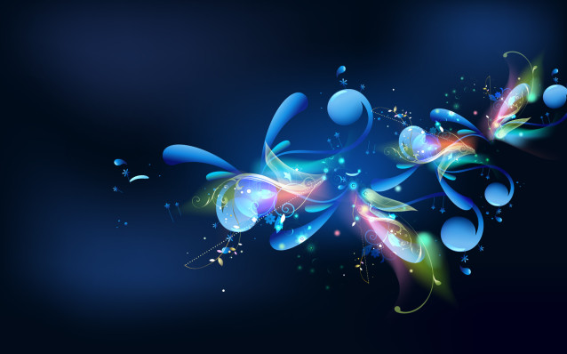 Colorful Blue Abstract Wallpaper Free Wallpapers And